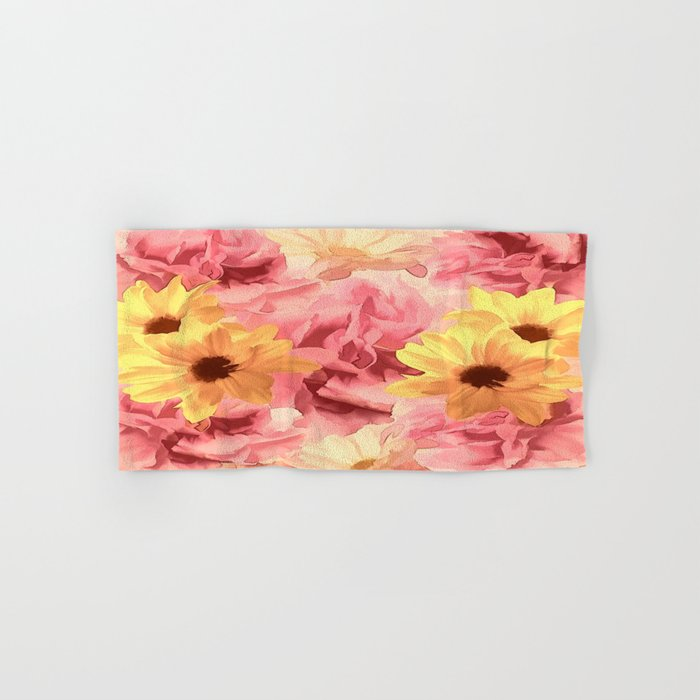 Summer Day Floral Hand & Bath Towel