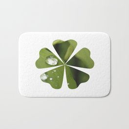Green Leaves After Rain Bath Mat