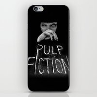 pulp fiction iPhone & iPod Skins featuring Pulp Fiction by Demetria Rose