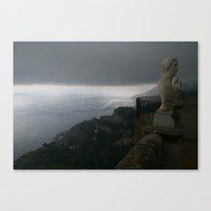 Statue in Ravello, Italy at Villa Cimbrone Canvas Print
