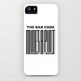 The Bar Code - Mine's a pint iPhone Case