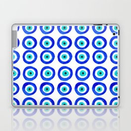 Evil Eye Amulet Talisman - on white Laptop & iPad Skin