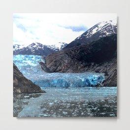 Hollowing Glacier Metal Print
