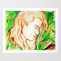 legolas Art Prints featuring Legolas by AlysIndigo