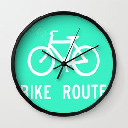 Bike Route Wall Clock