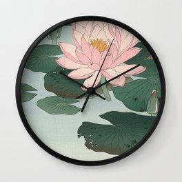 Lotus Lilies  Wall Clock