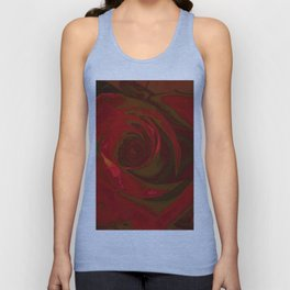 Big Red Rose Unisex Tank Top