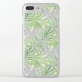 Tropical Branches Pattern 05 Clear iPhone Case