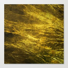 Classic Vintage Gold Faux Marble With Gold Veins Canvas Print