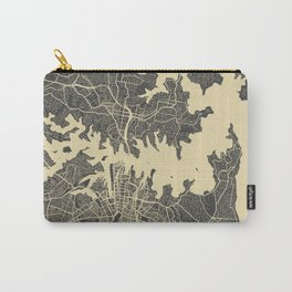 Sydney map yellow Carry-All Pouch