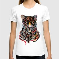 tiger T-shirts featuring Tiger by Felicia Cirstea