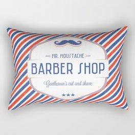 Mr. Moustache Barber Shop Rectangular Pillow