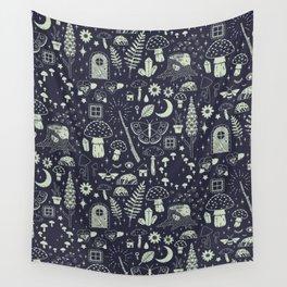 Fairy Garden: Midnight Wall Tapestry