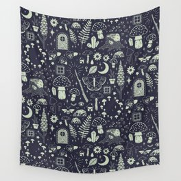 Fairy Garden: Midnight Wall Tapestry