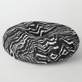 Dark Glitch Abstract Pattern Floor Pillow