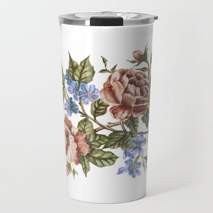Rustic Florals Travel Mug