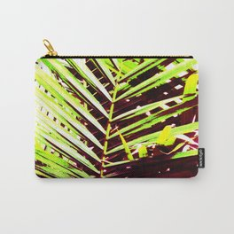 Palm Leaves, Bright Green, Yellow and Magenta Carry-All Pouch