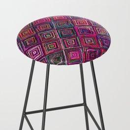 N46 - Arteresting Colored Traditional Boho Moroccan Artwork. Bar Stool