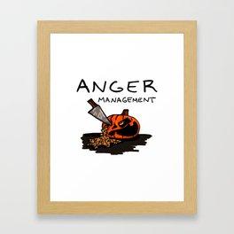 Halloween Anger Management Framed Art Print