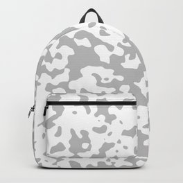 Spots - White and Silver Gray Backpack