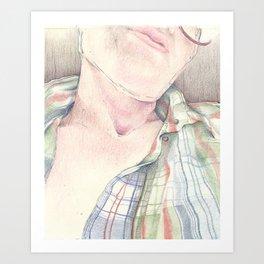 Portrait - Self Study Art Print