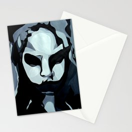 Sinister Zombie- Zombie Painting Stationery Cards