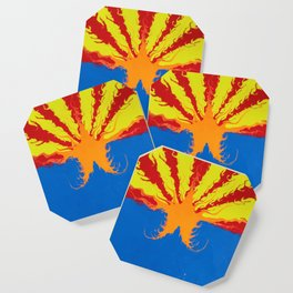 Arizona Flag Fluid Art Style 2 Coaster