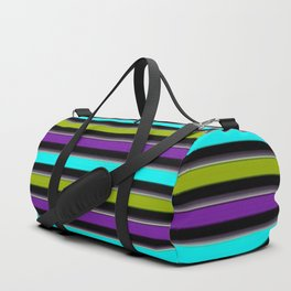 VERTICAL Retro Candy Stripe Duffle Bag