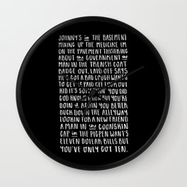 Homesick Blues Wall Clock