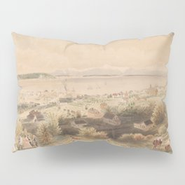 Vintage Pictorial View of Seattle & The Puget Sound Pillow Sham