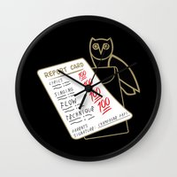 the 100 Wall Clocks featuring 100 by October's Very Own