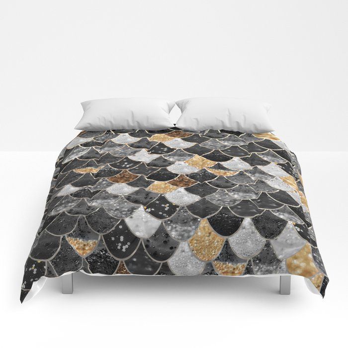REALLY MERMAID BLACK GOLD Comforters