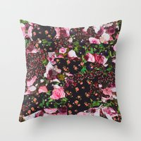 givenchy Throw Pillows featuring Givenchy Multicolor Floral  by V.F.Store