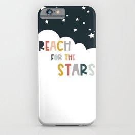 Reach stars - Kids Art iPhone Case