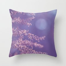 Purple Nature Dream Throw Pillow
