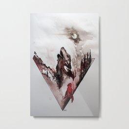 Red Cloak Metal Print