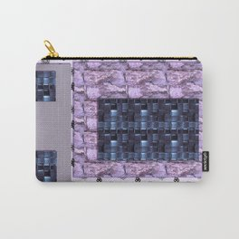 texture for interior decoration purple Carry-All Pouch