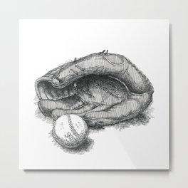 Baseball by James Skistimas Metal Print