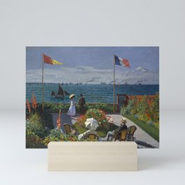 Claude Monet - Garden at Sainte-Adresse (1867) Mini Art Print