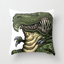 Slippy Trippy Snail Trail Throw Pillow