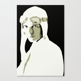 Silhouette vector Art: Amelia Canvas Print