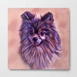 The Brindle Pomeranian Metal Print