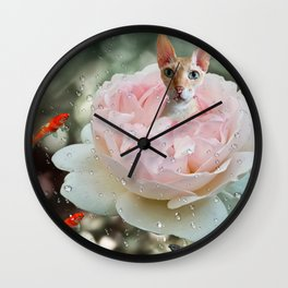 Dazed with happiness Wall Clock