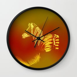 The zebra who loses these feathers Wall Clock