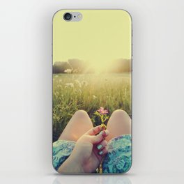 Delicate Flower Sunset iPhone Skin