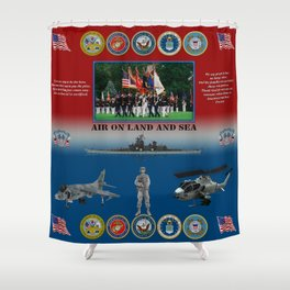 Armed Forces poster #AmericanPride #sot Shower Curtain