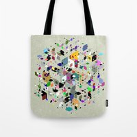 breaking Tote Bags featuring Breaking Free by Angelo Cerantola