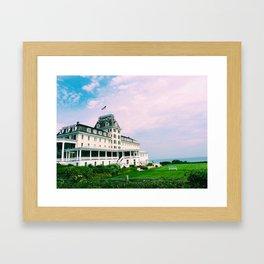 Ocean House Hotel in Watch Hill Rhode Island Framed Art Print