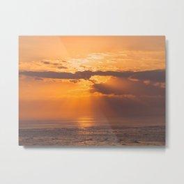 Golden ocean sunrise Metal Print