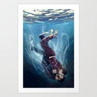 underwater Art Prints featuring Underwater by MGNemesi